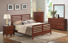G1200CKB2DMN 4 Piece Set including King Bed, Dresser, Mirror and Nightstand in Cherry