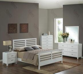 G1275CKB2DMN 4 Piece Set including King Size Bed, Dresser, Mirror and Nightstand in White