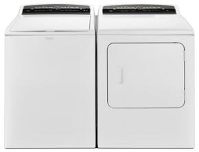 "Cabrio White Top Load Laundry Pair with WTW7000DW 27.5"" Washer and WGD7000DW 29"" Gas Dryer"