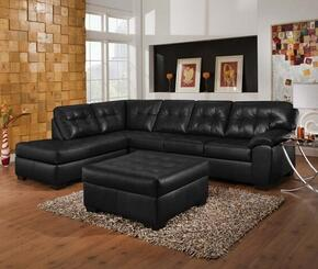 Shi 50620SO 2 PC Living Room Set with Sectional Sofa + Ottoman in Soho Onyx Color