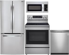 4-Piece Stainless Steel Kitchen Package with LFC22770ST 30