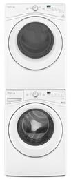 "White Front Load Laundry Pair with WFW7590FW 27"" Washer, WED7590FW 27"" Electric Dryer and W10869845 Stacking Kit"