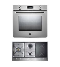 "Professional F30PROXT 30"" Single Electric Wall Oven 2 Piece Stainless Steel Kitchen Package with PM363I0X 36"" Electric/Gas Cooktop"