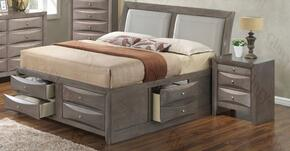 G1505IKSB4N 2 Piece Set including  King  Size Bed and Nightstand in Gray