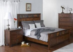 Santa Fe Collection 2334DCKBBEDROOMSET 2-Piece Bedroom Set with King Bed and Nightstand in Dark Chocolate Finish
