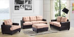 G588ASET 3 PC Living Room Set with Sofa + Loveseat + Armchair in Mocha Color