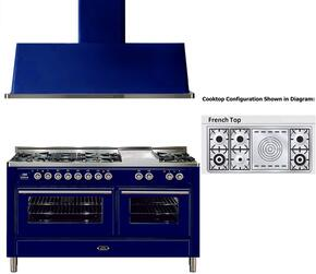 2-Piece Midnight Blue Kitchen Package with UMT150SDMPBL 60