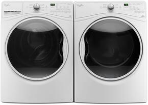 "Washer and Dryer Package with WFW85HEFW 27"" Front Load Washer and WGD85HEFW 27"" Gas Dryer, in White"