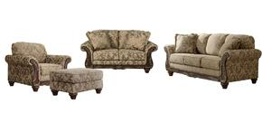 Ashlynn Collection MI-5301SLCO-TOPA 4-Piece Living Room Set with Sofa, Loveseat, Living Room Chair and Ottoman in Topaz