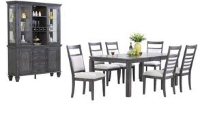Shades of Gray Collection DLU-EL9282-C90-BH9PC 9 Piece Dining Set with China Cabinet