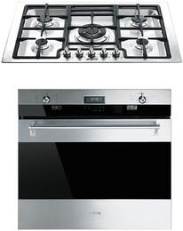 "2-Piece Stainless Steel Kitchen Package with SOU330X1 30"" Single Oven and PGFU30X 30"" Gas Cooktop"