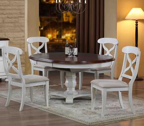 Andrews Collection DLU-ADW4866-C12-AW5PC 5 PC Dining Room Set with Dining Table + 4 Side Chairs