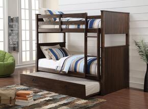 Hector Collection 380252PC Bedroom Set with Twin Bunk Bed + Trundle in Antique Charcoal Brown Color