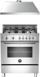 "Professional 2-Piece Stainless Steel Kitchen Package with PRO304GASX 30"" Freestanding Gas Range and KU30PRO1XV 30"" 400 CFM Range Hood"