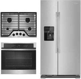 3-Piece Stainless Steel Kitchen Package with AGC6540KF 30