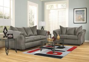 Darcy 75005SL3TR2L 8-Piece Living Room Set with Sofa, Loveseat, 3PC Table Set, Rug and 2 Lamps in Cobblestone