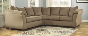 75002SEC3PCKIT Darcy 3-Piece Living Room Set with Sectional Sofa, Chair & Ottoman in Mocha