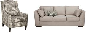 Georgia Collection MI-8540SAC-ALLO 2-Piece Living Room Set with Sofa and Accent Chair in Alloy