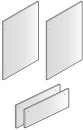 "Set of 4 Door Panels for 84"" Installation, in Stainless Steel"