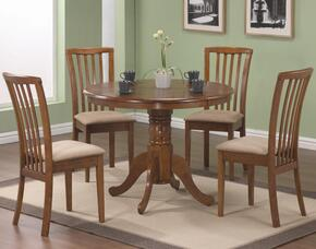 101091SET5 Brannan 5 PC Dining Set in Maple Finish (Table & 4 Chairs) by Coaster Co.