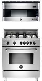"2-Piece Stainless Steel Kitchen Package with MAS304DFSXTLP 30"" Liquid Propane Dual-Fuel Range and KO30PROX 30"" Over-the-Range Microwave"