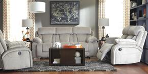 Landen Collection MI-6448883PC-PEBB 3 PC Living Room Set with Reclining Sofa + Reclining Loveseat in Pebble Color