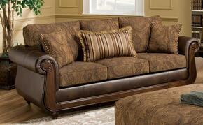 185850-SL Oneida 2 Piece Livingroom Set, Sofa + Loveseat in Tobacco/Kiser Cappuccino
