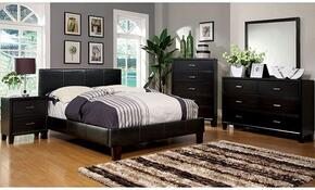 Winn Park Collection CM7008TBDMCN 5-Piece Bedroom Set with Twin Bed, Dresser, Mirror, Chest, and Nightstand in Espresso Color