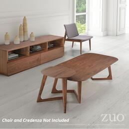 "100098 Park West 20"" Side Table Complete with Coffee Table in Walnut Finish"