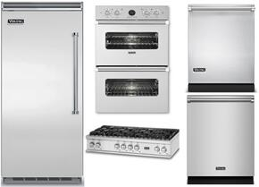 "5-Piece Stainless Steel Kitchen Package with VBI7360WLSS 36"" Bottom Freezer Refrigerator, VRT5488BSS 48"" Gas Cooktop, VEDO5272SS 30"" Electric Double Wall Oven, FDW302WS 24"" Fully Integrated Dishwasher, and VDW302SS 24"" Dishwasher"