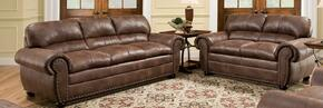 Padre 7510-03002 2 Piece Set including Sofa and Loveseat with Nail Head Accents in Espresso