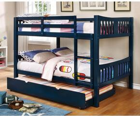 Cameron Collection CMBK929BLBEDT 2 PC Bedroom Set with Twin Size Bunk Bed + Trundle in Blue Finish