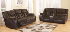Tafton 79202KIT2PC 2-Piece Living Room Set with Reclining Sofa and Double Reclining Loveseat in Java