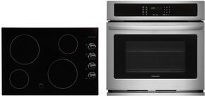 "2-Piece Kitchen Package With FFEC3024LB 30"" Electric Cooktop and FFEW3025PS 30"" Electric Single Wall Oven in Stainless Steel"