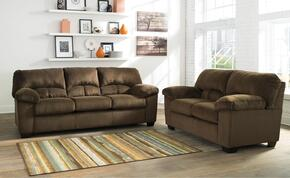 Dailey 95403-36-35 2-Piece Living Room Set with Full Sofa Sleeper and Loveseat in Chocolate Brown