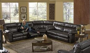 Nolan Collection 4041-8-9-1223-09/3023-09 3-Piece Sectional with Reclining Sofa, Wedge and Reclining Loveseat in Chestnut
