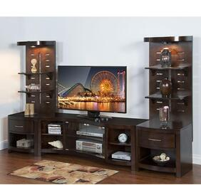 "K3431E 82"" 3-Piece Entertainment Set with TV Console and 2 Piers in Espresso Finish"