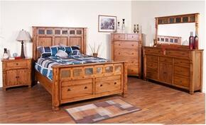 Sedona Collection 2322ROKBDMNC 5-Piece Bedroom Set with King Bed, Dresser, Mirror, Nightstand and Chest in Rustic Oak Finish