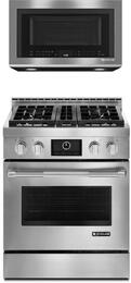 2 Piece Kitchen Package With Jgrp430wp 30 Freestanding Gas Range And Jmv8208cs Jenn Air