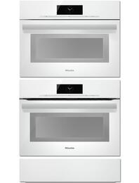 "Brilliant White 3-Piece Kitchen Set with DGC6800XLBRWS 24"" Single Electric Wall Oven, H6800BMBRWS 24"" Speed Oven and ESW6214BRWS 24"" Warming Drawer"