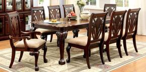 Petersburg I Collection CM3185T6SC2AC 9-Piece Dining Room Set with Rectangular Table, 6 Side Chairs and 2 Arm Chairs in Cherry Finish