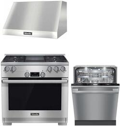 3-Piece Stainless Steel Kitchen Package with HR1136GGD 36