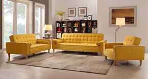 G834-SLC 3-Piece Living Room Set with Sofa, Loveseat and Chair in Yellow