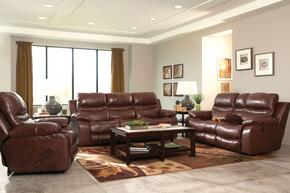 Patton Collection 4241-1283-19/3083-19SSET 3 PC Living Room Set with Lay Flat Reclining Sofa + Loveseat + Recliner in Walnut Color