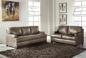 Brylee Collection MI-8312SL-TPWT 2-Piece Living Room Set with Sofa and Loveseat in Two-Tone Pewter