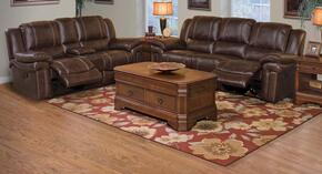 2032030SBWSL Hastings 2 Piece Manual Recline Living Room Set with Sofa and Loveseat, in Brown
