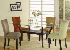 101491CSET5 Bloomfield 5 PC Rectangle Dining Set (Table and 4 Side Chairs with Chocolate Ochre Upholstery)