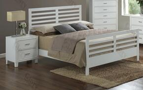 G1275CFB2N 2 Piece Set including Full Size Bed and Nightstand  in White