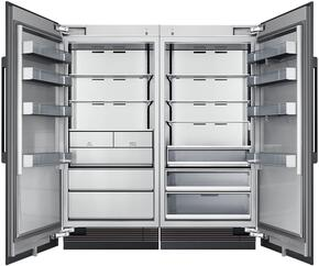 "72"" Panel Ready Side-by-Side Column Refrigerator Set with DRR36980RAP 36"" Right Hinge Refrigerator, DRZ36980LAP 36"" Left Hinge Freezer, and Installation Kit"