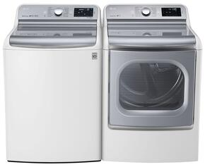 "White Top Load Laundry Pair with WT7700HWA 29"" 5.7 Cu. Ft. Washer and DLEX7700WE 9.0 Cu. Ft. Electric Dryer"
